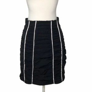 NEW h:ours Revolve Ruched Paneled Mini Skirt Sz. S